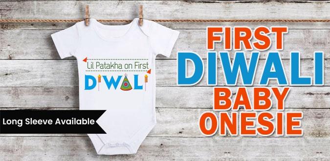 First Diwali Baby Onesies, Romper