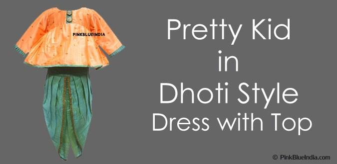 Girls Dhoti Style Designer Dresses