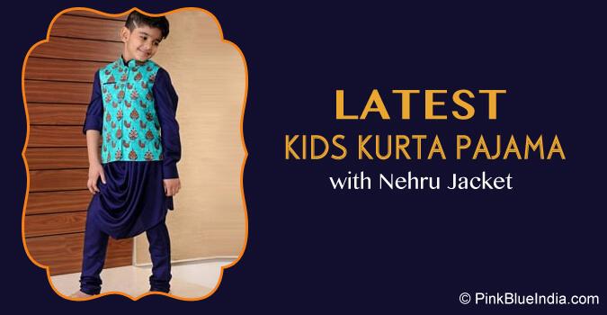 Diwali Kids Kurta Pajama with Nehru Jacket