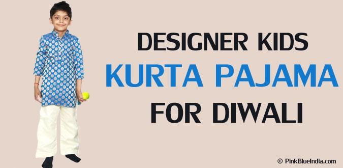 Designer Kids Kurta Pajama for Diwali