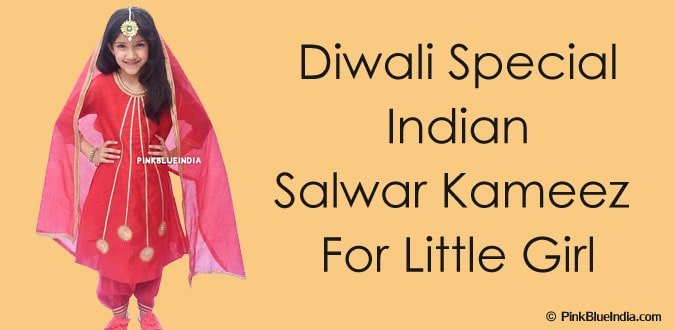 Diwali Indian Salwar Kameez for Little Girl