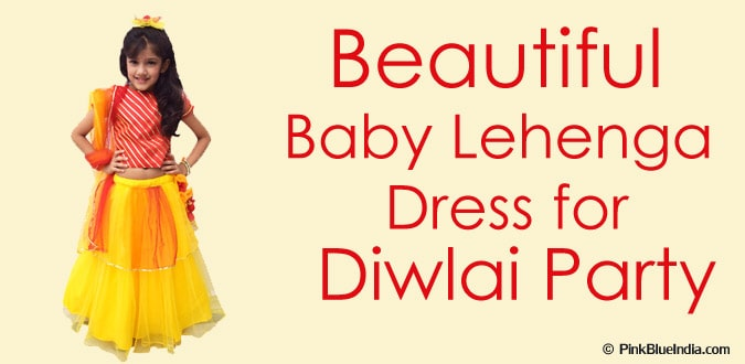 Designer Diwali Party Baby Lehenga Dress