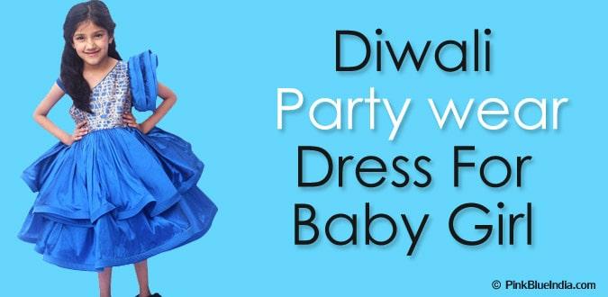 Baby Girl Diwali Party Wear Dresses