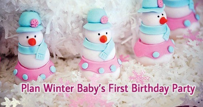 1st birthday party ideas winter baby
