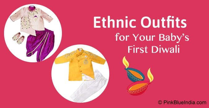 Baby First Diwali Ethnic Outfits, Dress