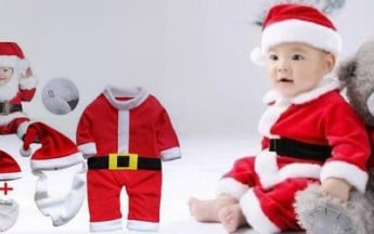 Gorgeous Santa Claus Costumes for Babies in India