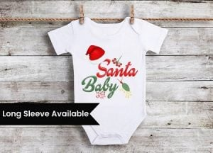 My First Christmas Baby Outfit, Christmas Onesie