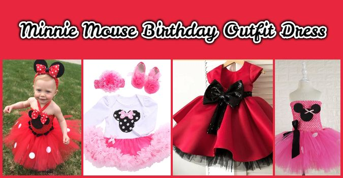 Girls minnie mouse birthday outfit dress