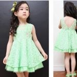 Baby Girl Patterned Net Wedding Party Outfit