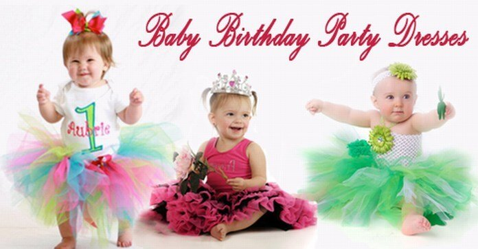 Fashionable baby Birthday Party Dresses