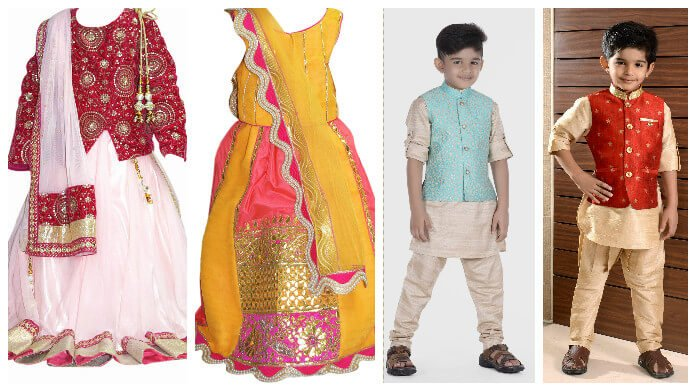 Indian Kidswear Ethnic Dresses - Childrens Clothing