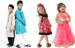 Special Designer Eid Dresses Collection 2017 for Kids in Attractive Styles and Patterns