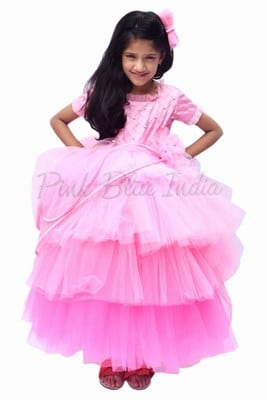 3 Year Baby Frocks Online – Pink Frock