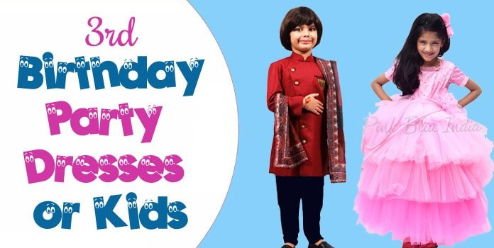 3rd Birthday Dresses, 3 Year Old Party Wear Outfit for ...