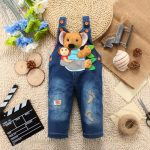 baby boy Denim Dungaree Romper dress