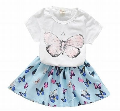 Fashionable Baby Girl Skirt with T-shirt