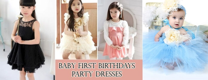 Baby First Birthdays Party Dresses 0-24m