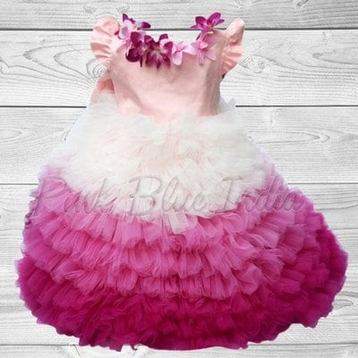 Toddler Girl Pink Ombre Dress Birthday party