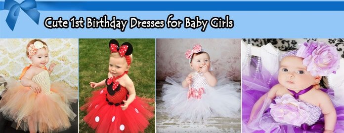 Cute 1st Birthday Dresses for Baby Girls