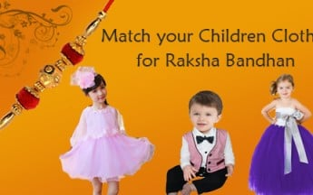 Match your Children Clothes for Raksha Bandhan