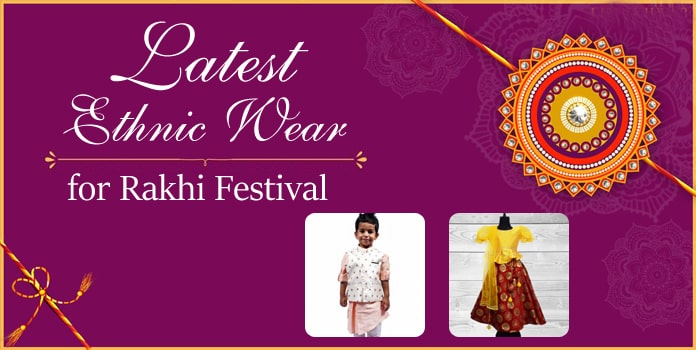Rakhi Festival kids Ethnic Wear Dresses