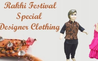 Rakhi Festival Special Designer Clothing for Children