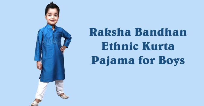 Raksha Bandhan Kids Ethnic Wear - Boys Kurta Pajama