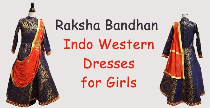 Raksha Bandhan Indo Western Dresses for Girls