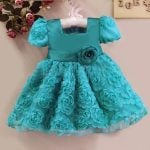Baby Girl Rose Floral First Birthday Dress