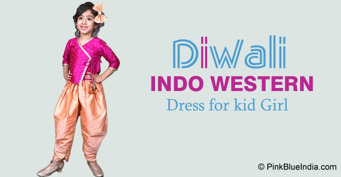 Diwali Indo Western Dress for kid Girl