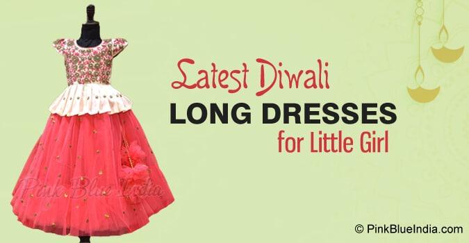 Diwali Trendy Long Dresses for little Girl