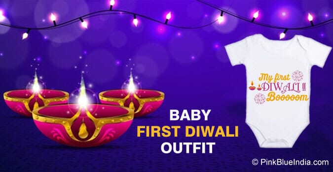 First Diwali Outfit Personalised Baby Onesie
