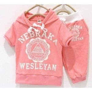 Cool Peach Summer Hoodies for Children