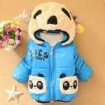 Kids Winter Hooded Panda face Jacket