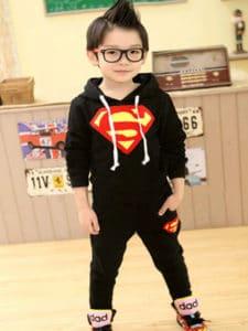 Toddler Boy Superman Hoodie and Pants Set, Kids Superman Hoodie Online India