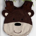 Brown Bear Patterned Apron for Kids