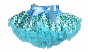 Light Blue and Green tutu Skirt