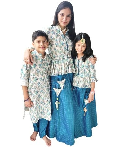 Indian Family Matching Traditional Dress, Family Birthday Party, Wedding Dresses