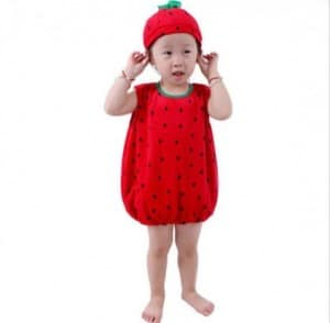 Red Strawberry Fruit Fancy Outfit