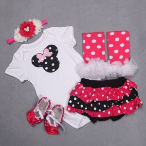 Minnie Mouse 5 Piece Baby Girl Romper Set