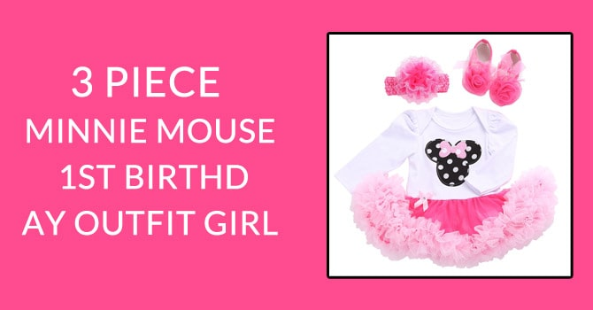 Minnie Mouse Baby Girl Birthday Outfit - Minnie Mouse Baby Romper Set