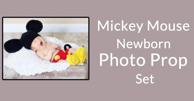 Mickey Mouse Newborn Photo Prop Set