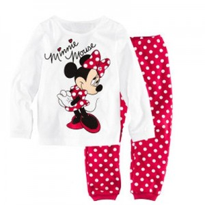 Minnie Mouse Print T-Shirt and Pajamas