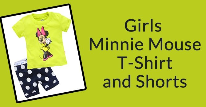 Girls Minnie Mouse T-Shirt and Shorts