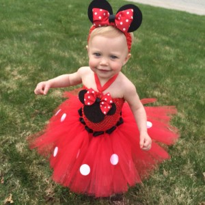 Minnie mouse first birthday tutu dress