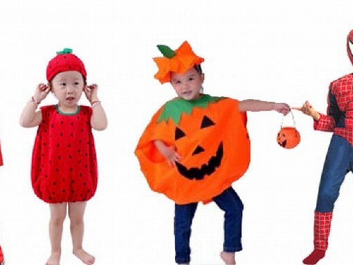 Girls Pumpkin Fairy Halloween Costume Outfits Party Fancy Dress Up Clothes Kids