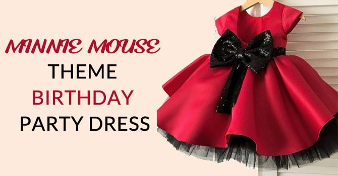 Minnie Mouse Theme Birthday Party Dress