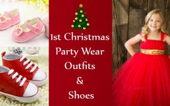 Best 1st Christmas Party Outfits & Shoes for Baby Boys