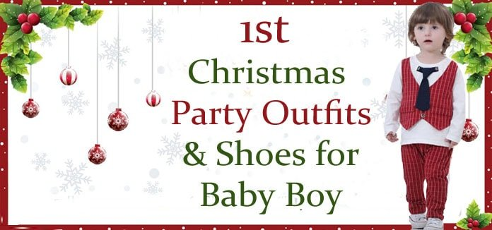 Baby Boy 1st Christmas Outfits - Newborn Baby Christmas Party Shoes