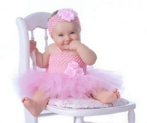 Cute Baby Pink Crochet Tutu Dress